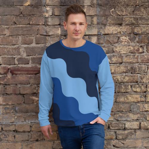 SC Abstract Design Unisex  All-Over Print Sweatshirt