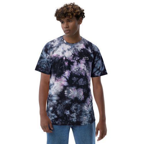 SC Yes Embroidery Oversized Tie-Dye T-Shirt