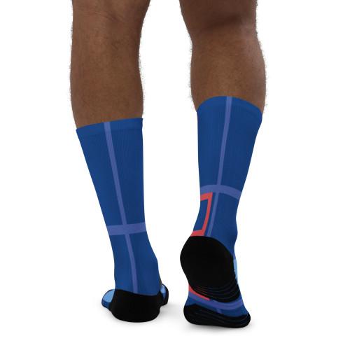 SC Abstract Design Men's Basketball Socks