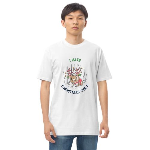 SC Men's Premium Heavyweight I Hate Christmas Shirt