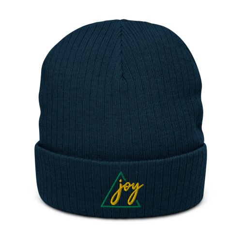 SC Joy 3D Embroidery  Recycled  Cuffed Beanie