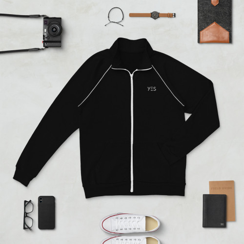 SC Embroidery Piped Fleece Jacket