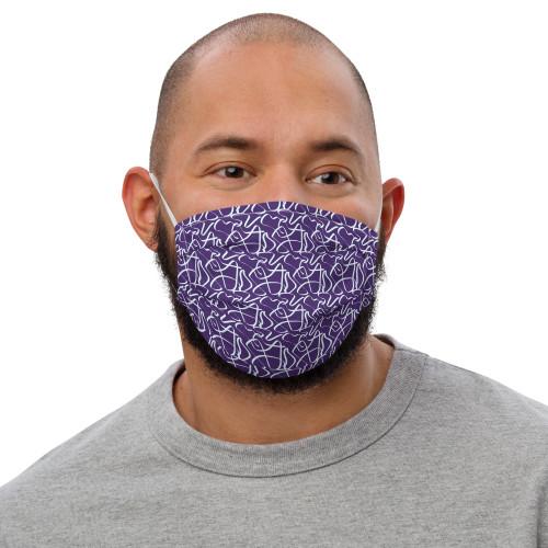 SC Graphic Squiggles Premium Face Mask