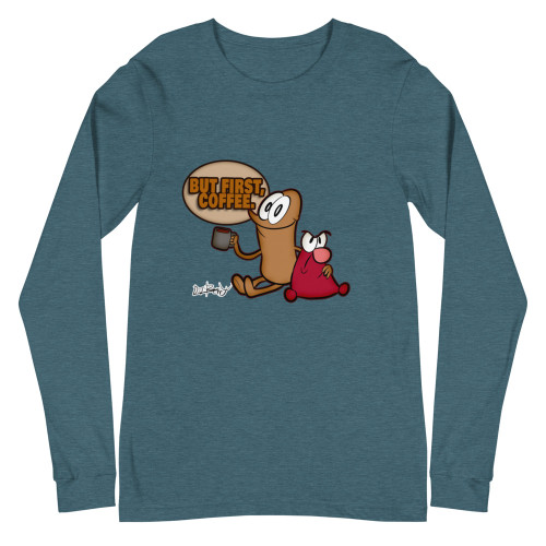 SC But First Coffee Unisex Long Sleeve Tee