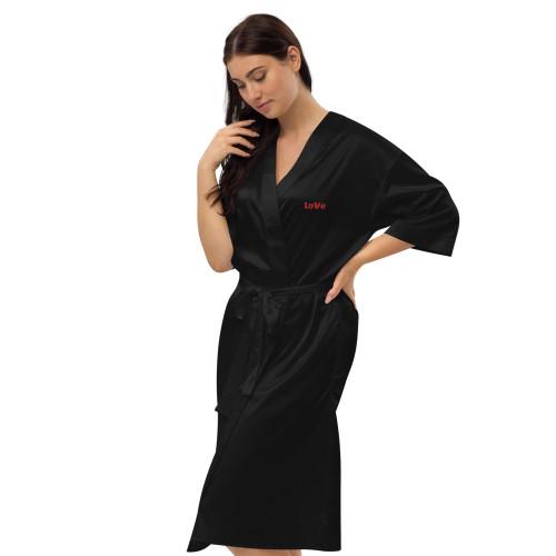 SC Love Embroidery Satin robe