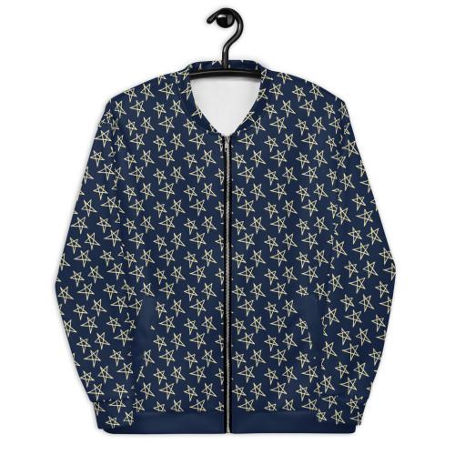 SC Star Pattern Bomber Jacket