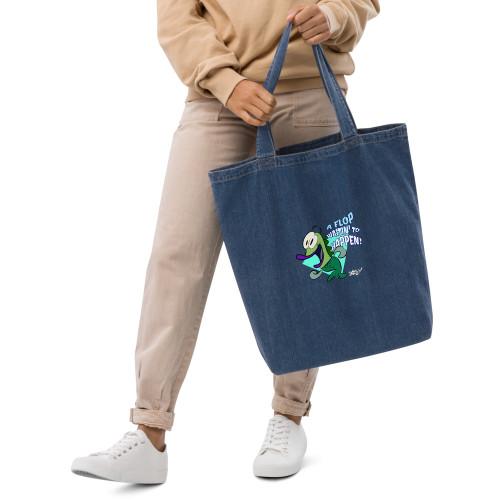 SC A Flop Waitin To Happen Organic Denim Tote Bag