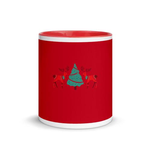 SC Xmas Mug with Red Color Inside (Seasonal Special)