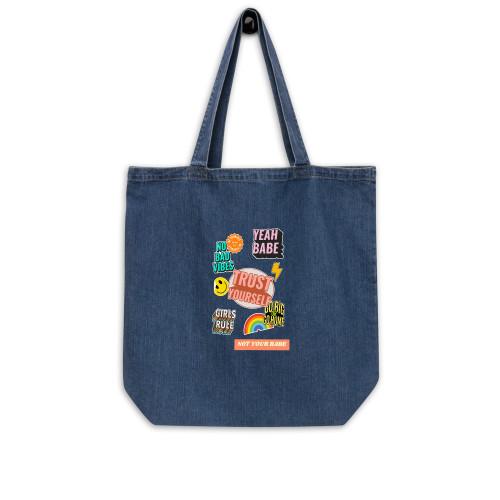 SC Organic Denim  Artsy Tote Bag