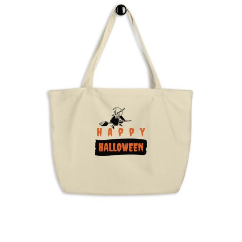 SC Happy Halloween Large Organic Tote Bag