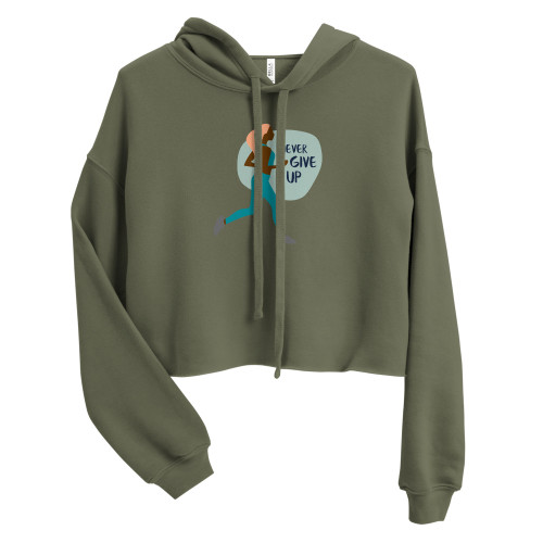 SC Never Give Up Crop Hoodie