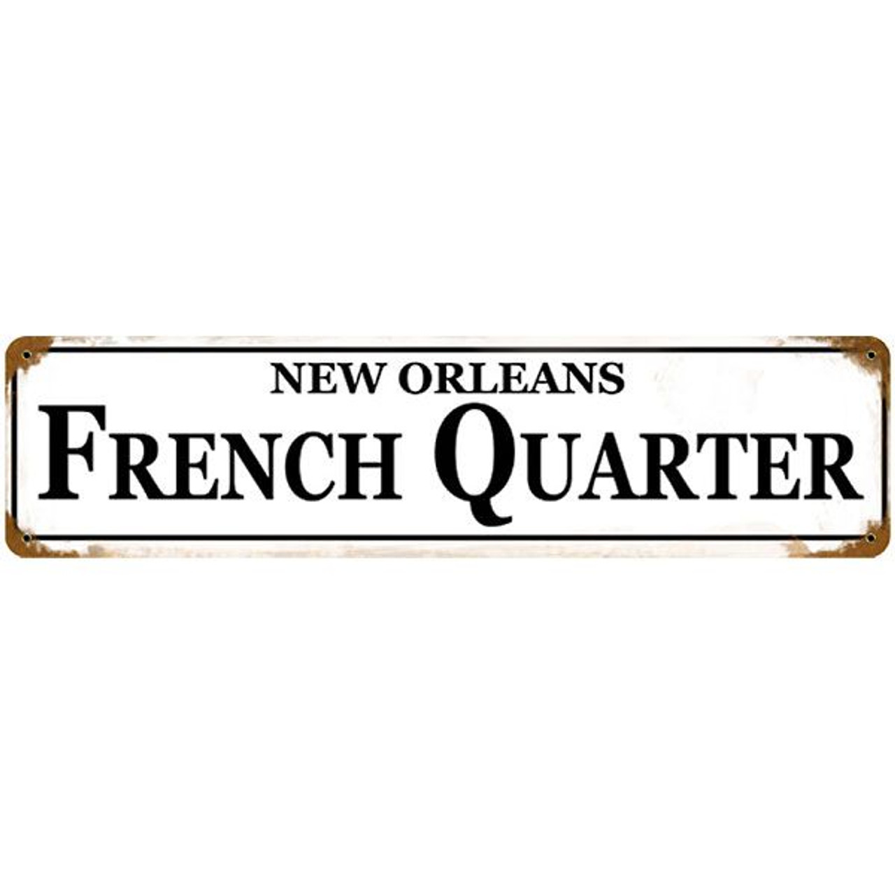 New Orleans metal tin sign garage wall signs