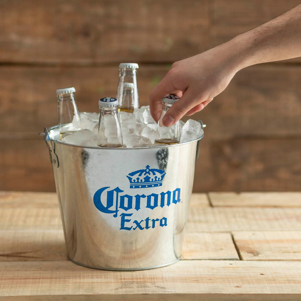 1 NEW Corona Extra Ice Buckets Galvanized Metal for Beer Ale Lager Bottle Cooler