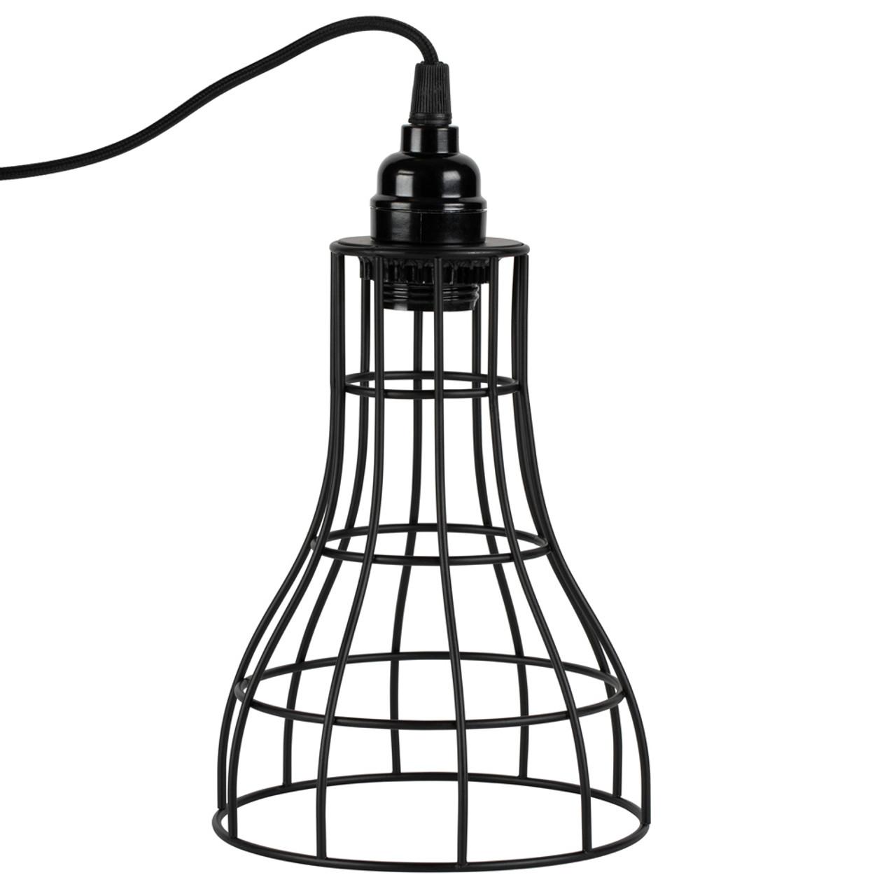 Black Hanging Cage Lamp Shade Kit