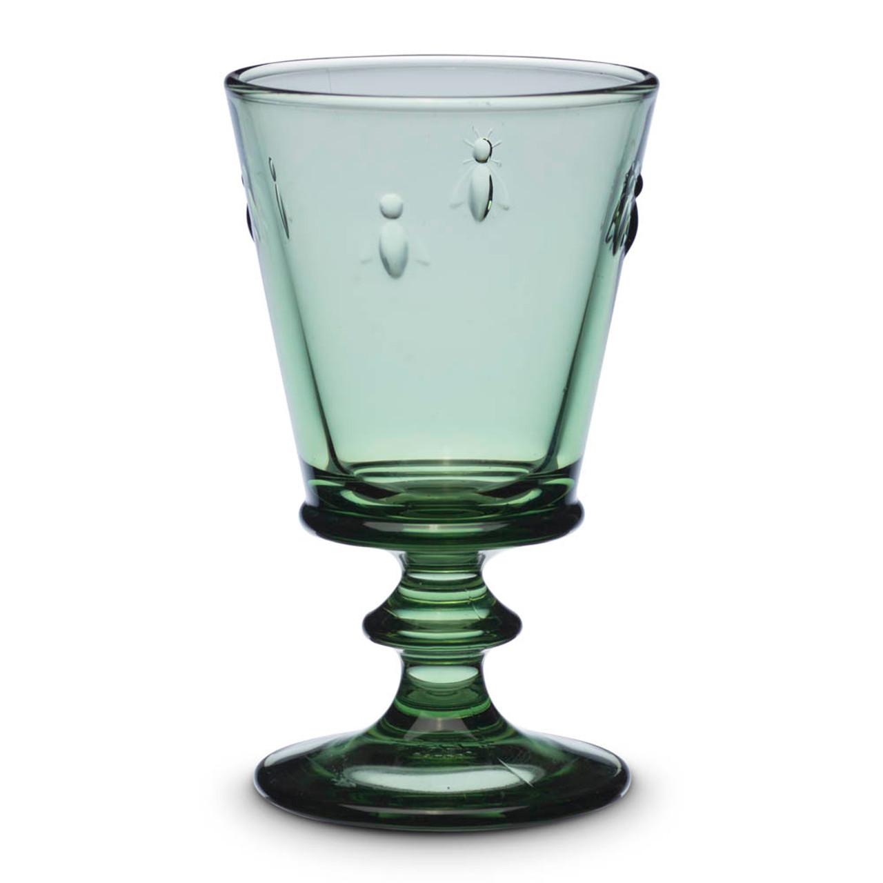 La Rochere Napoleon Bee Stemmed Wine Cocktail Glass 8 Oz Provence Green