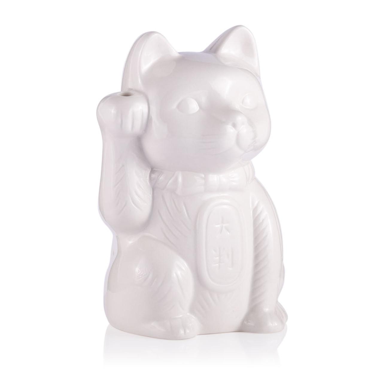 Maneki Neko Lucky Cat Ceramic Tiki Mug 14 Oz