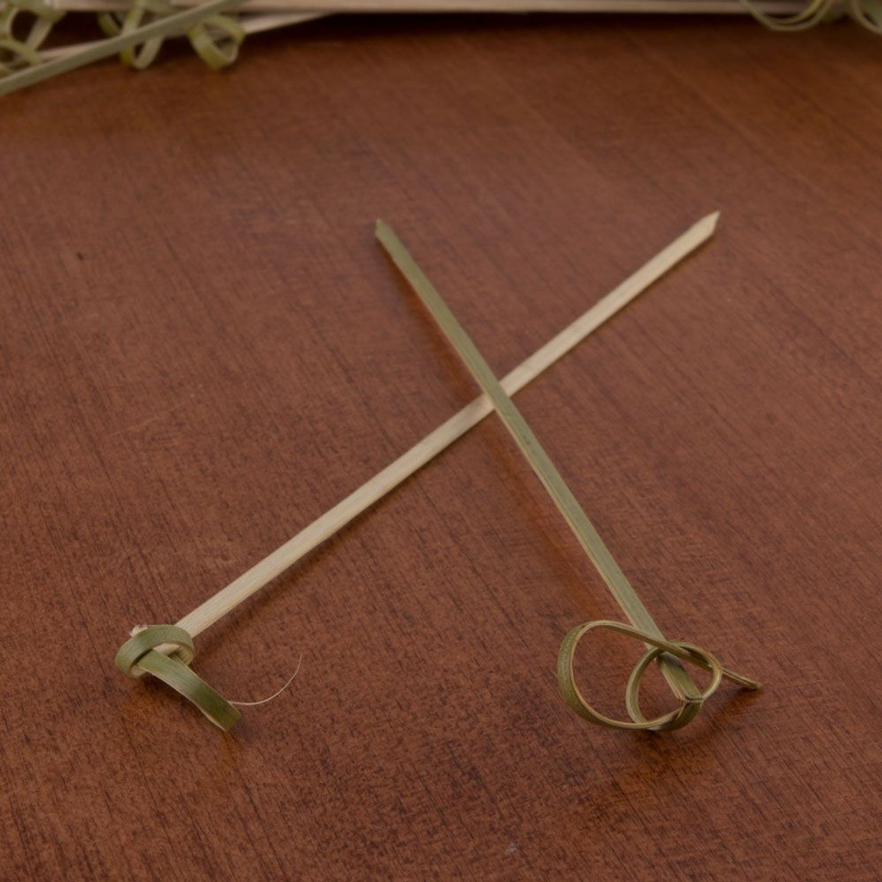 """Bamboo Knot Picks 7/"""" Pack of 100"""