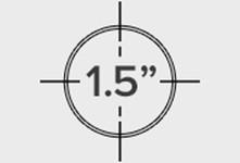 1.5 inch Outside Diameter
