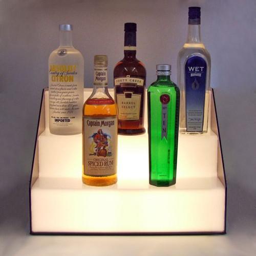 Lighted Stair Liquor Bottle Display Shelf