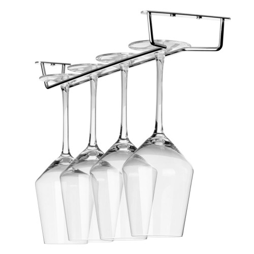 "Glass Hanger Rack - Chrome - 16""L"