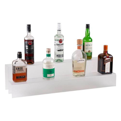 34-inch 2 Tier Liquor Bottle Shelf - Translucent