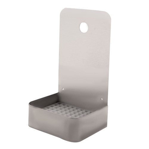 "6"" Wall Mount Drip Tray - Stainless Steel - With Drain"