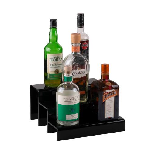 12-inch 3 Tier Liquor Bottle Shelf - Black