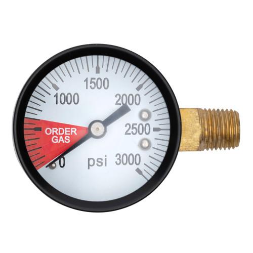 Replacement Gauge for CO2 Regulator - 0-3000 PSI - Left Hand Thread
