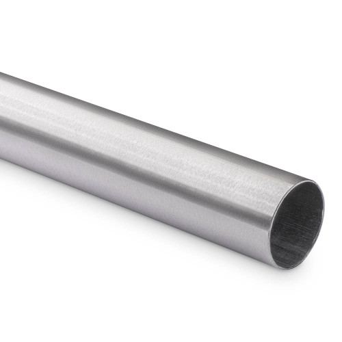 """Bar Foot Rail Tubing - Brushed Stainless Steel - 2"""" OD"""
