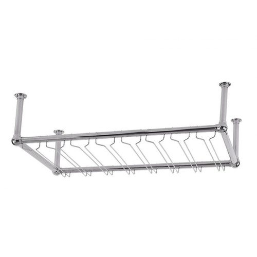 8-Channel Stock Glass Rack - Chrome