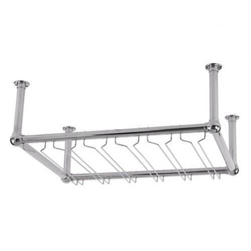 6-Channel Stock Glass Rack - Chrome
