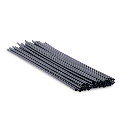 Cocktail Stir Straws - 2500 Count - Black 7""