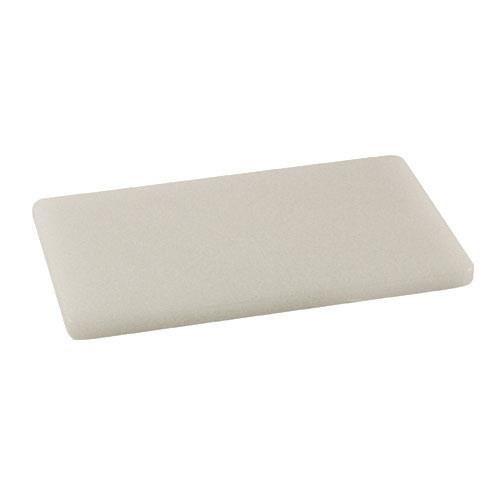 "Rectangular White Plastic Cutting Board - 6"" x 10"""