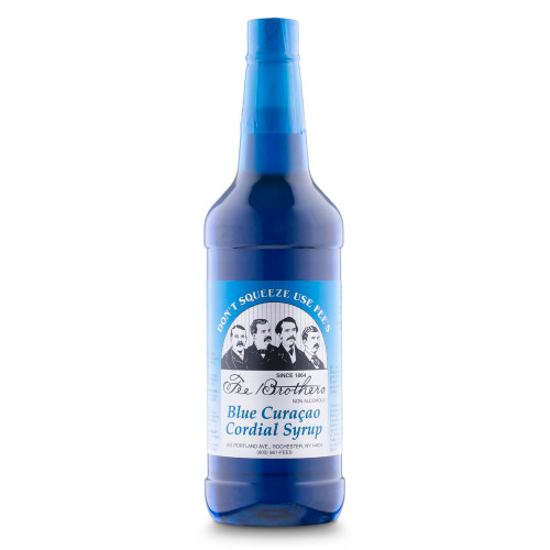Fee Brothers Blue Curacao Cordial Cocktail Syrup - 32 oz