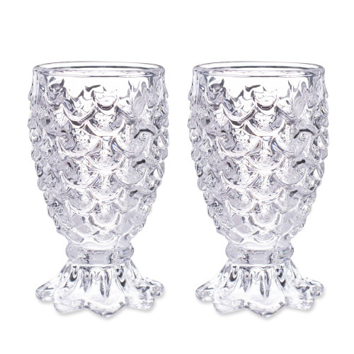 Paradise Pineapple Cocktail Glasses - Set of 2 - 10 oz