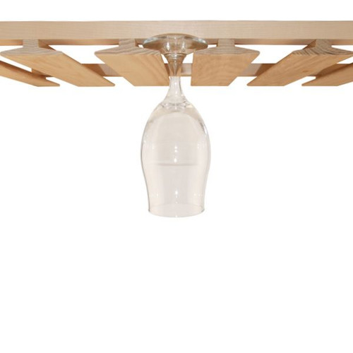 wood wine glass rack