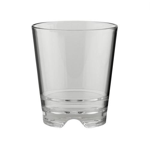 Libbey Infinium Reusable Tritan Plastic Double Old Fashioned Stackable Rocks Glass - 14 oz