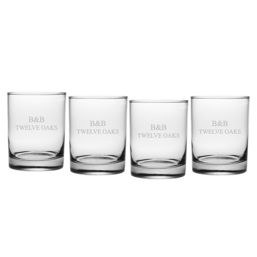 Aristocrat Rocks Glasses - Set of 4