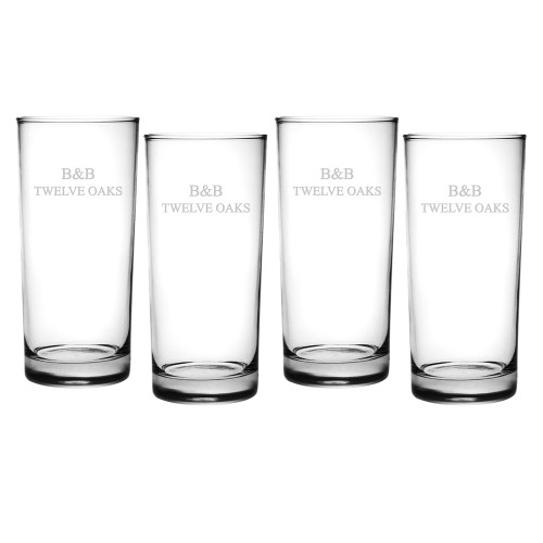 Aristocrat Hi Ball Glasses - Set of 4 (Free Personalization)