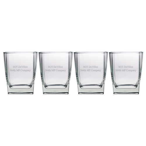 Sterling Rocks Glasses - Set of 4 (Free Personalization)