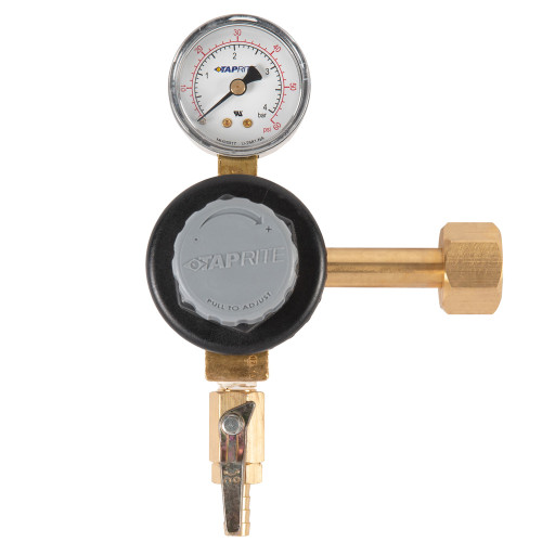 Premium Single Gauge CO2 Regulator - Polycarbonate Bonnet