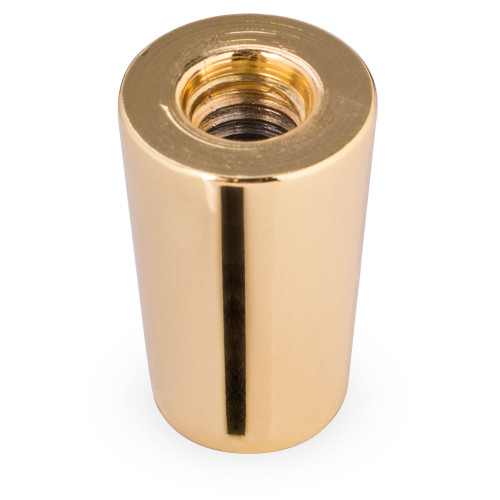 "Gold Colored Beer Tap Handle Ferrule - 3/8""-16 Top Thread"