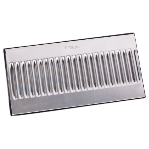 "12"" Surface Mount Drip Tray - Stainless Steel - No Drain"