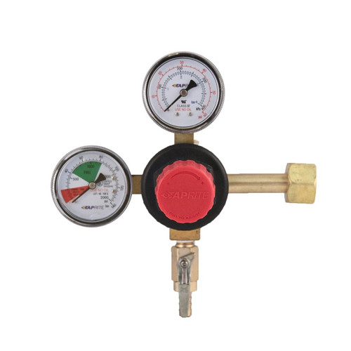 High Performance Double Gauge CO2 Regulator - Polycarbonate Bonnet