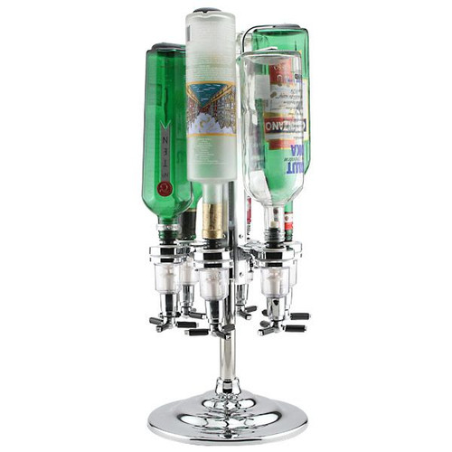 Final Touch Rotary Liquor Shot Dispenser - Holds 6 Bottles