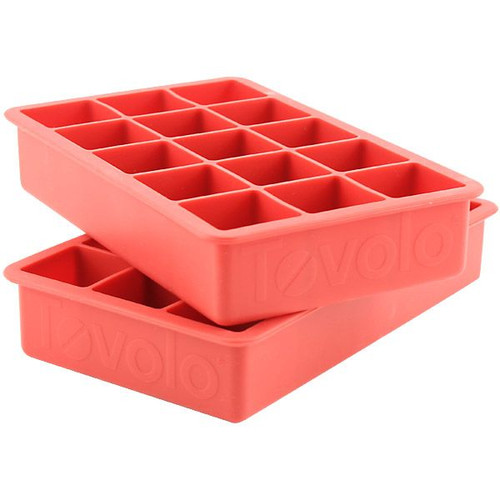 Tovolo Perfect Cube Ice Trays (Set of 2) - Red
