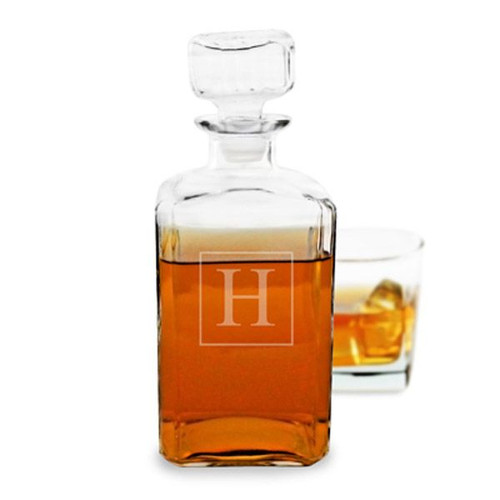 Personalized Square Liquor Decanter - 34 oz