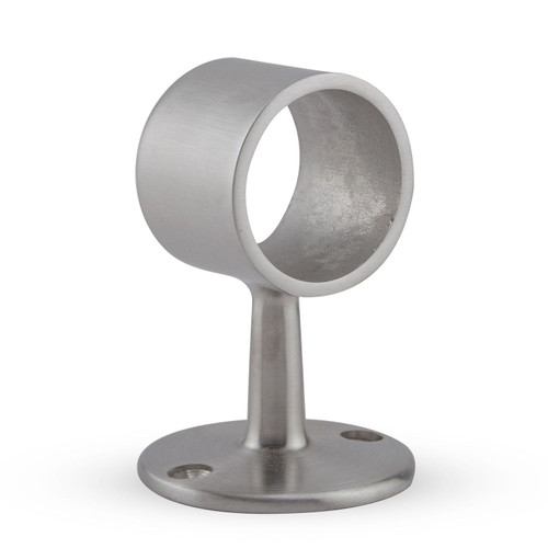 "Flush Center Post- Brushed Stainless- 1.5"" OD"