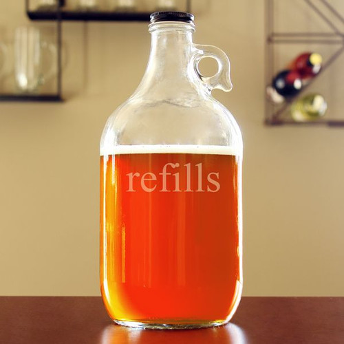 Refills Clear Glass Beer Growler - 64 oz