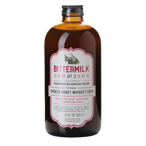 Bittermilk No.3 Smoked Honey Whiskey Sour Cocktail Mixer - 17 oz